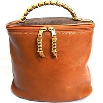 Vintage Auth Loewe Madrid 1846 Brown Leather Vanity Hand Bag Purse Made Spain Photo