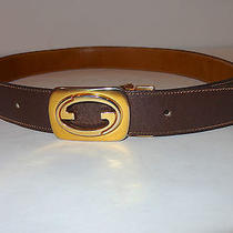 Vintage Authentic Brown Gucci Belt 30 Made in Italy Photo