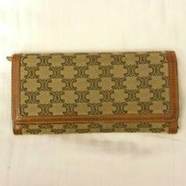 Vintage Authentic Celine Monogram Bi-Fold Women Purse Leather Wallet Photo