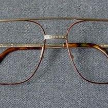 Vintage Authentic Christian Dior Brown & Gold Plated Metal Eyeglasses Frame Photo