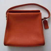 Vintage Authentic Coach Geometric Purse 9043 Burnt Orange Leather  Bonus Items Photo