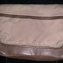 Vintage Authentic Coach Leather Trim Crossbody Carrier Messenger Bag Photo
