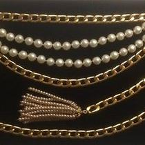 Vintage Authentic Coco Chanel 31 Rue Cambon Curb Chain & Pearls Belt Photo