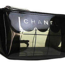 Vintage Authentic Pre-Own Chanel Coco Lover Transparent Plastic Vanity Porch Bag Photo