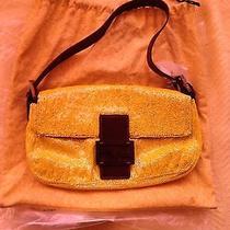 Vintage Authentic Yellow Fendi Handbag Photo