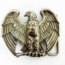 Vintage Avon American Eagle Patriotic Silver Tone Belt Buckle  Photo