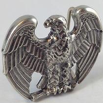 Vintage Avon American Eagle Patriotic Silvertone Belt Buckle Photo