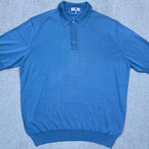 Vintage Avon Celli for Papillon Silk Polo Shirt Made in Italy Men's Size 54 or L Photo