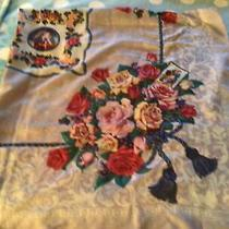 Vintage Avon Floral Bouquet Scarf Made in Italy 1989 Polyester New. Photo