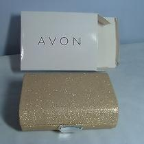 Vintage Avon Jewelry Clutch Nib- Goldtone Sparkling Purse-Free Ship Photo