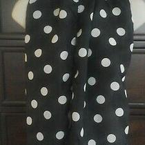 Vintage Avon Ladies Black and White Polka-Dot Scarf - Created in Italy Photo