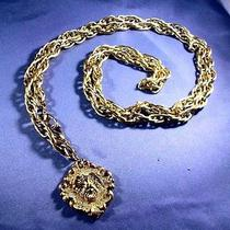 Vintage Avon Lion Theme Gold Tone Metal Chain Belt or Necklace Convertible  Photo