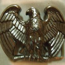 Vintage Avon Majestic Eagle Cast Metal Belt Buckle in Original Box B106 Photo