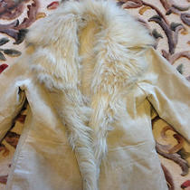 Vintage Avon Newport News Suede and Faux Fur Lined Floor Length Coat Photo