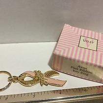 Vintage Avon  Pink Ribbon Key Ring  Photo