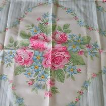 Vintage Avon Rose Flowers Polyester Scarf. Made in Italy Photo