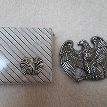 Vintage Avon (Signed)  1982 Majestic Eagle Belt Buckle Orig Box Photo