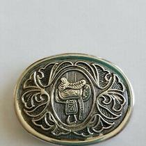Vintage Avon Silver Tone Western Saddle Cowboy Belt Buckle Photo