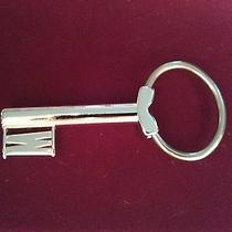 Vintage Avon Skeleton Key Chain Ring With Letter Initial W Silver Fob Pendant Photo