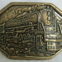 Vintage Avon Train Locomotive Steam Engine Belt Buckle - 3 1/2