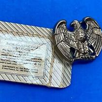 Vintage Avon Usa  American Eagle Belt Buckle Majestic Perched Patriotic  Photo