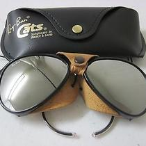 Vintage b&l Ray Ban 8000 Arctic Cats Glacier Sunglasses Mirror Leather Aviator  Photo