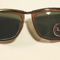 Vintage b&l Ray Ban Olympian Bronze Sunglasses Usa G15 W/sticker Frame Front Photo