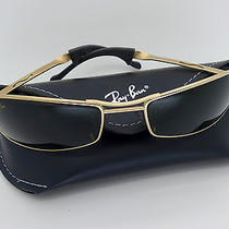 Vintage b&l Ray Ban Orbs Axis Square Matte Gold W2023 Fugitive Sunglasses Nos Photo