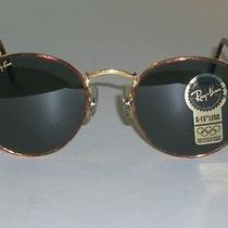 Vintage b&l  Ray Ban W1857 Round Gold/tortoise Ring G15 Aviators Sunglasses Photo