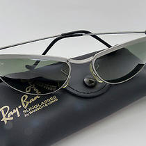 Vintage b&l Ray Ban W2566 Olympian Matte Silver G15 Sunglasses Nos Very Rare Photo