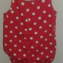 Vintage Baby Gap Bubble Romper Nwt Size 12-18 Months Red W/ White Polka Dots  Photo