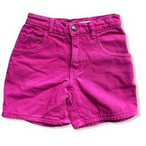 Vintage Baby Guess Girls Denim Jean Shorts Sz 5 Hot Pink  High Waisted 80s Retro Photo