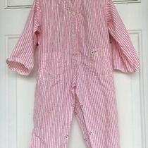 Vintage Baby Guess Jumper/romper 24 Months Pink Stripes Photo