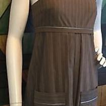 Vintage Badgley Mischka Pin Stripe Baby Doll Dress/size Xs Photo