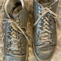 Vintage Balenciaga Mens High Top Sneaker Silver Size 45 Photo