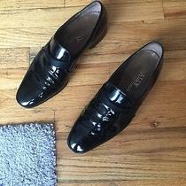 Vintage Bally Black Patent Leather Men's Pumps Slip on Made in France Size 11 Photo