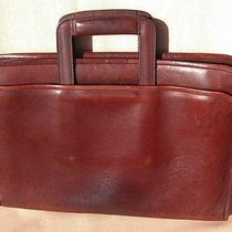 Vintage Bally Chestnut Brown Italian Leather Computer Tablet Briefcase Attache  Photo