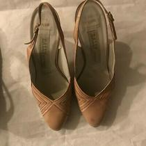 Vintage Bally of Switzerland  Beige Slingback Pumps Heels  Size 8.5 M Photo