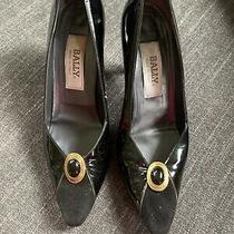 Vintage Bally Patent Leather Pumps Shoes Heels Sz 8.5 Italy Photo