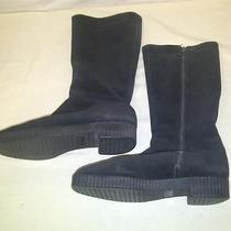 Vintage Bally Women's Black Suede Snow Winter Boots Shoes Size 7 Us Photo