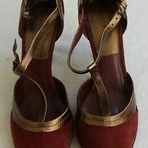 Vintage Bandolino Everette Burgundy Suede High Heel Shoe Size 8m Never Worn New  Photo