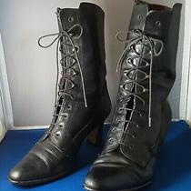 Vintage Bandolino Lace Up Ankle Boot Cosplay/steampunk Size 7 Photo