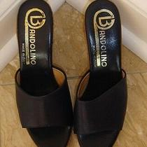 Vintage Bandolino Womans Slip-in Shoe in Navy Blue & Made in Italy-3.50 Heel-New Photo