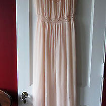 Vintage Barbizon Flattery Pleated Peach Blush Lace Nightie Sz 16-Trousseau Photo