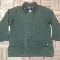 Vintage Barbour Beaufort Green Oiled Wax Outdoor Jacket 42 Photo