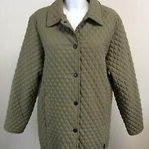 Vintage Barbour Tailored Microfibre Quilted Jacket L209 Size Uk 14 Kn Photo