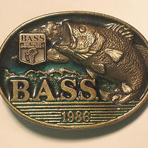 Vintage Bass 1986 Belt Buckle b.a.s.s. Member '86 Fishing Angler American u.s.a Photo