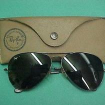 Vintage Bausch & Lomb Ray Ban Aviator Sunglasses Smoke Green With Case Photo
