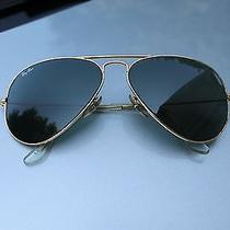 Vintage Bausch & Lomb Ray Ban Sunglasses Gold Rimmed Graphite Lenses Photo