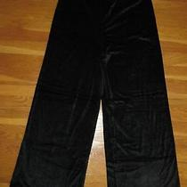 Vintage Bcbg Black Velour Pants Size Medium Dress Trousers Steampunk Velvet M Photo